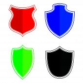 Shield Icon Color Isolated On White Background From Miscellaneous Collection. Shield Icon Trendy And poster