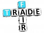 3D Fair Trade kruiswoordraadsel kubus woorden