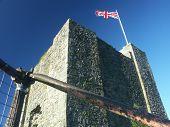 Clitheroe Castle Keep, With Union Flag