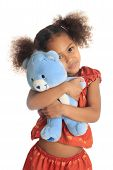 African American And Asian Children With His Teddy Isolated