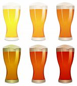 stock photo of guinness  - Illustration of a mouth watering set with various pints of beer - JPG