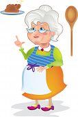 Grandma cooks