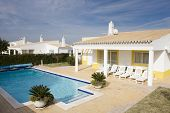 Beautiful villa with pool - typical architecture from Algarve, south of Portugal