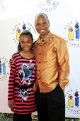 LOS ANGELES, CA - MAR 4: Jesse Campbell, daughter Soraya at the I Have A Dream Foundation's 14th Ann