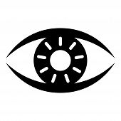 Eye Icon, Eye Icon Image, Eye Icon Vector In Modern Flat Style For Web, Graphic And Mobile Design. E poster