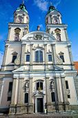austria, upper austria, st. florian. exterior view of the collegiate church