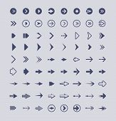 Direction Arrows. Infographic Web Buttons Signs And Icons Vector Arrows Collection Isolated. Illustr poster