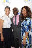 LOS ANGELES, CA - MAR 4: Amy Brenneman, Taye Diggs, Channing Dungey at the I Have A Dream Foundation