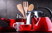Composition With Kitchen Vessels, Kettles And Cups. poster