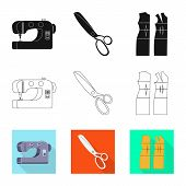 Vector Illustration Of Craft And Handcraft Icon. Collection Of Craft And Industry Stock Symbol For W poster