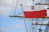 Flag Of Poland - Sail Ship