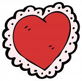 pic of frilly  - cartoon frilly heart - JPG