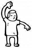 judo chop man cartoon