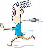 Syringe And Man