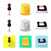 Vector Design Of Craft And Handcraft Icon. Collection Of Craft And Industry Stock Vector Illustratio poster
