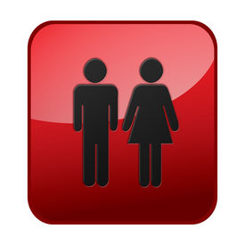 stock photo of male female  - male female girl boy icon toilet lavatory washroom - JPG