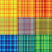 seamless retro colourful plaid stroke pattern