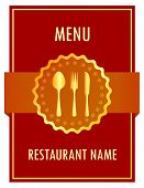 Menu design vector illustration
