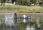 Traditional Nubian Fishermen In A Boat