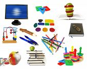 Education Theme Objects Isolated