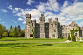 Ashford castle and gardens in Co. Mayo, Ireland