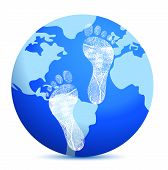 Earth With Footprints