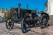 Old black tractor