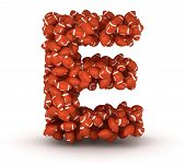 stock photo of ncaa  - Letter E making from american football balls - JPG