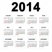 Simple Great Calendar For 2014