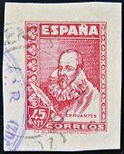 SPAIN - CIRCA 1940: A stamp printed in Spain shows Miguel de Cervantes Saavedra circa 1940