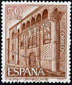 Espanha - por volta de 1978: um selo impresso em shows de Espanha o Palácio de Javalquinto (C. Benavente) por volta de 1978