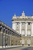 Detail of Royal Palace in Madrid, Spain