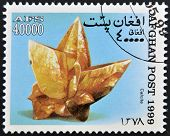 AFGHANISTAN - CIRCA 1999: A stamp printed in Afghanistan shows calcite circa 1999