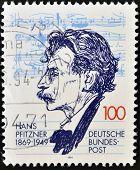 GERMANY- CIRCA 1994: stamp printed in Germany shows Hans Pfitzner Composer circa 1994