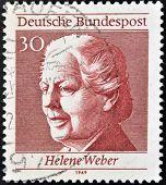GERMANY - CIRCA 1969: A stamp printed in Germany shows Helene Weber circa 1969