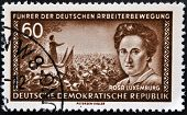 GERMANY - CIRCA 1974: A stamp printed in the democratic republic of germany shows Rosa Luxemburg