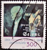 A stamp printed in Germany shows Richard Strauss and Marie Wittich in the role of Salome