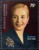 ARGENTINA - CIRCA 2002: a stamps printed in Argentina shows Evita Peron circa 2002