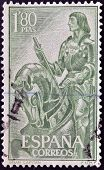 A stamp printed in Spain shows Don Gonzalo Fernandez de Cordoba The Great Captain circa 1958