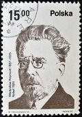POLAND - CIRCA 1982: A stamp printed in Poland shows Wadysaw Stanisaw Reymont was a Polish novelist