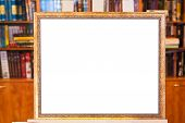 White Canvas Of Picture Frame On Easel