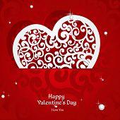 Atada con apliques de rizos tarjeta de San Valentín