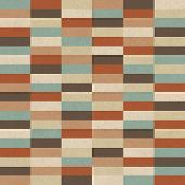 Seamless retro geometric pattern on paper texture.