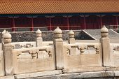 Ornate Carved Chinese Stone Wall