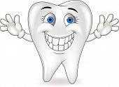 Happy tooth cartoon