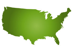 stock photo of united states map  - An outlined map of the United States of America - JPG