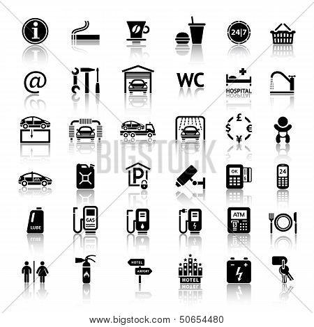 Постер, плакат: Car services, холст на подрамнике