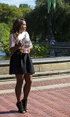 US Open 2013 champion Serena Williams posing with US Open trophy in Central Park