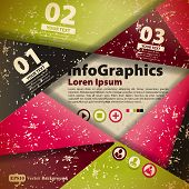 Modern abstract banner design for infographics