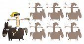 Постер, плакат: Horse Mirror Image Visual Game
